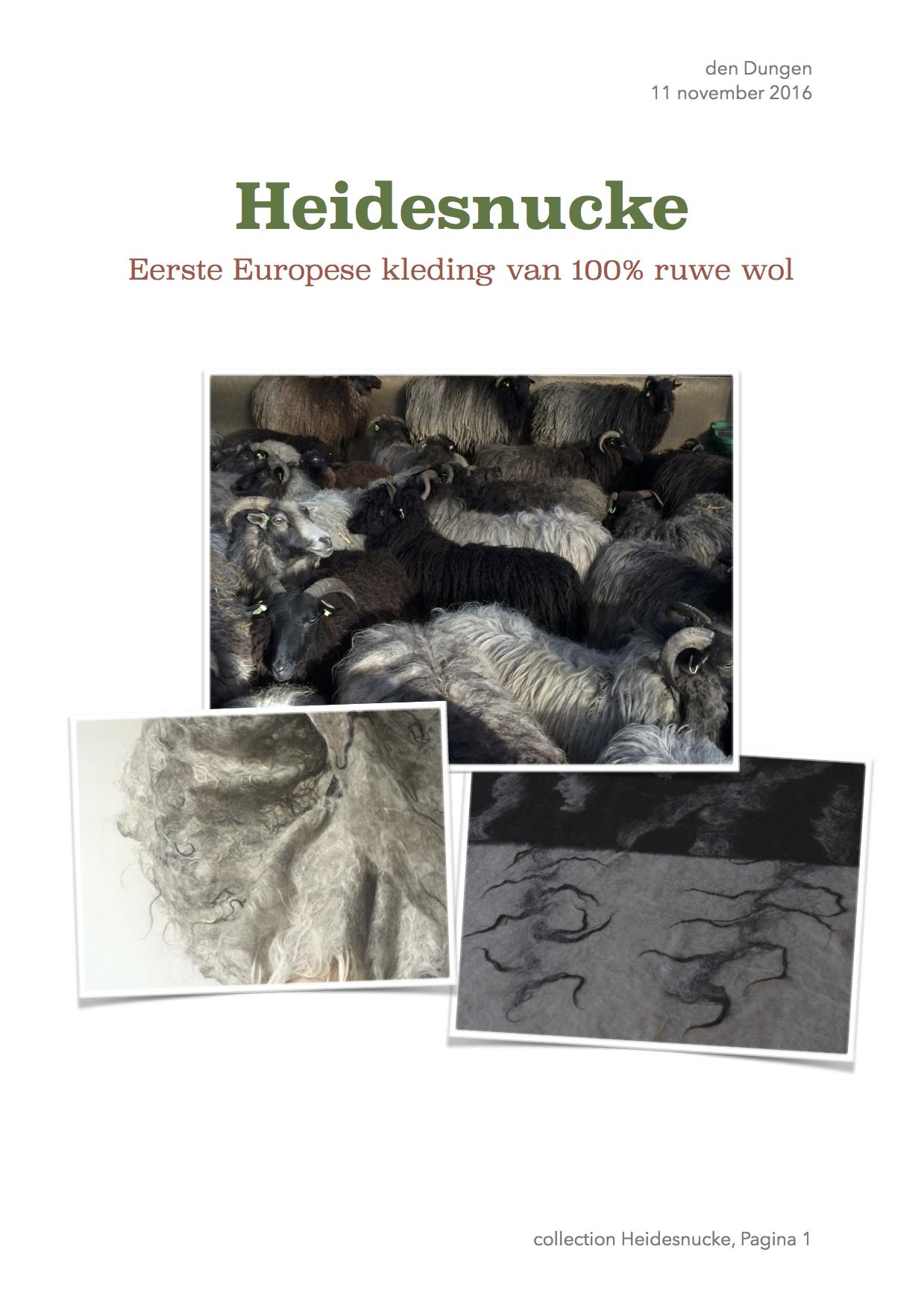 Heidesnucke eerste Europese kleding van 100% ruwe wol